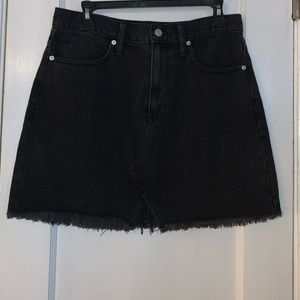 Madewell • Rigid Denim A Line Skirt